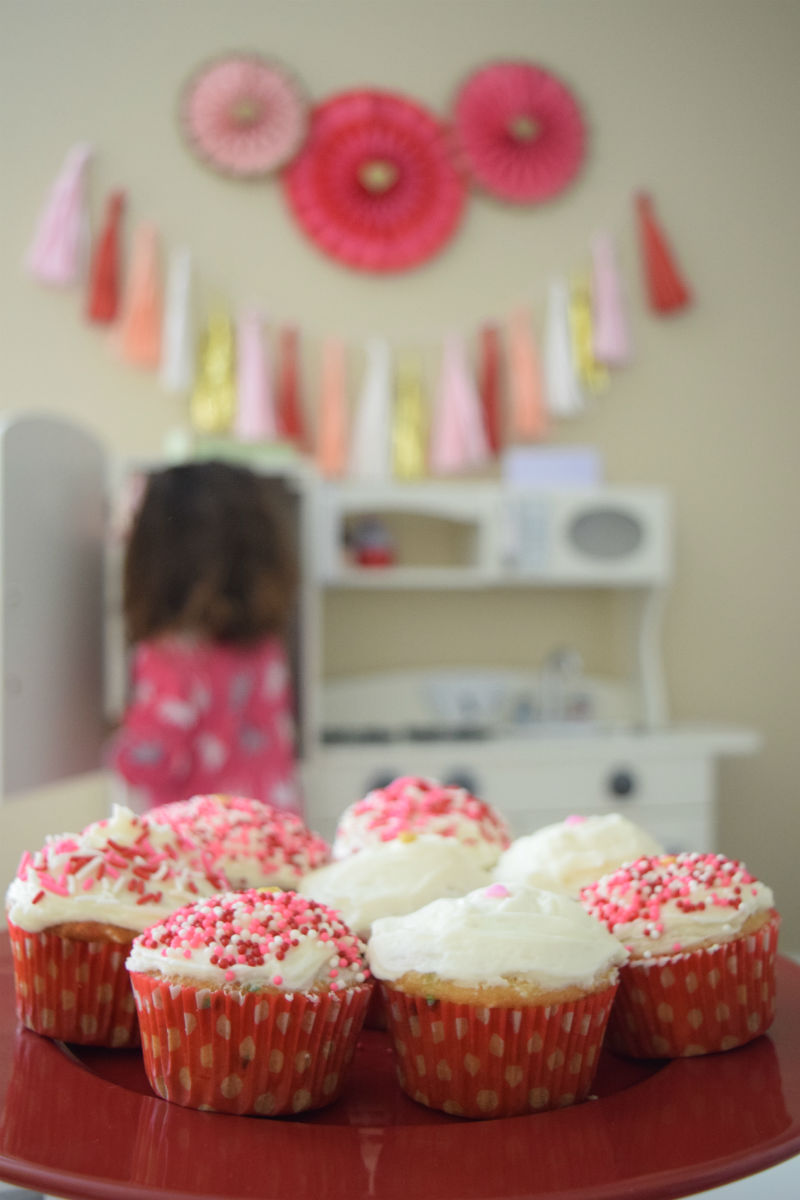 Valentine's Day Sprinkles Cupcakes