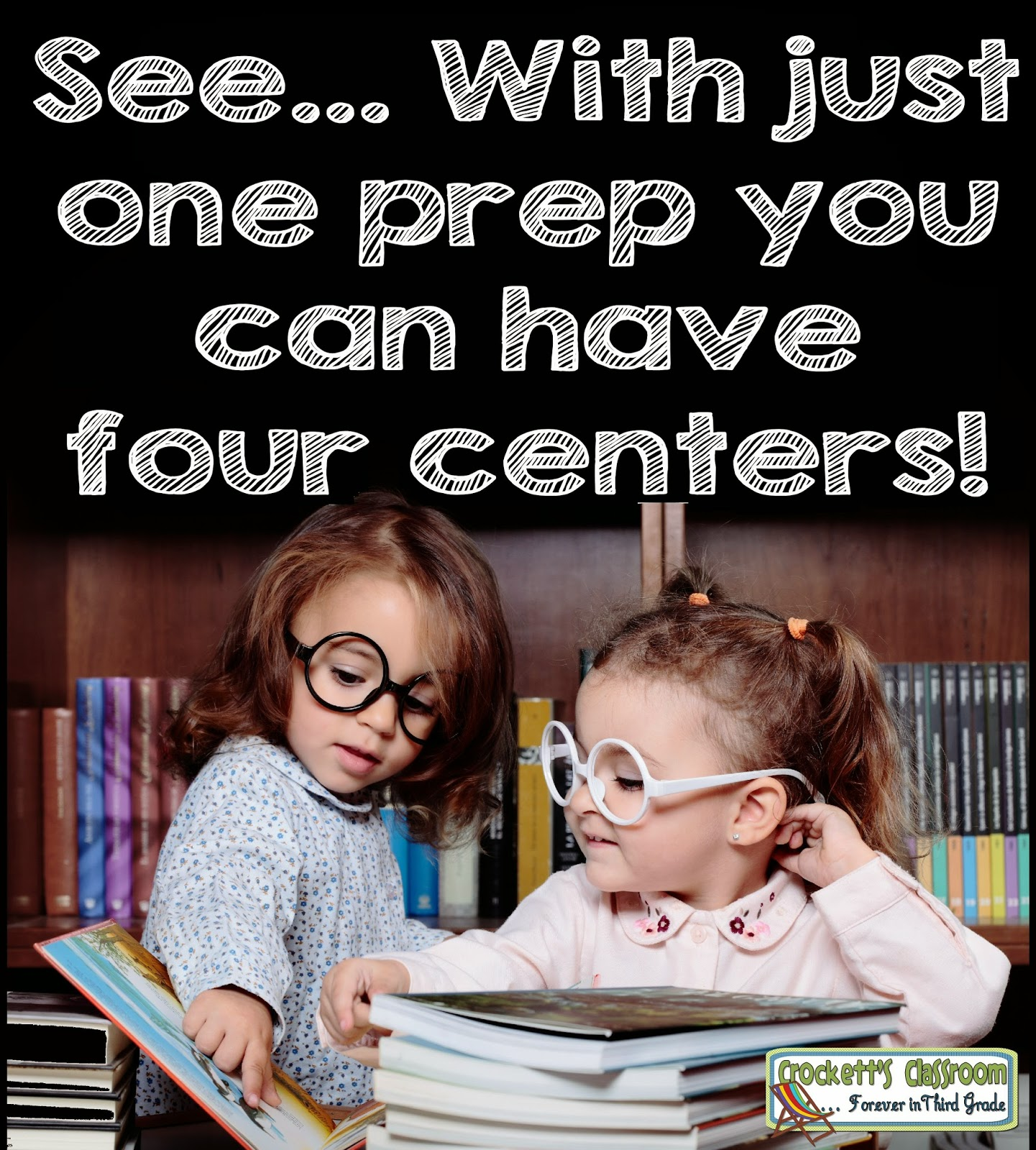 Get more out of your literacy centers!  With just one prep you can get ready for 4 weeks of centers.