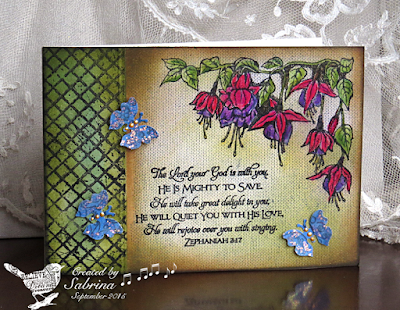 ODBD Fuschia Single, ODBD Chalkboard Lattice Background, ODBD Scripture Series 1, Card Designer Sabrina Friel aka Cook22