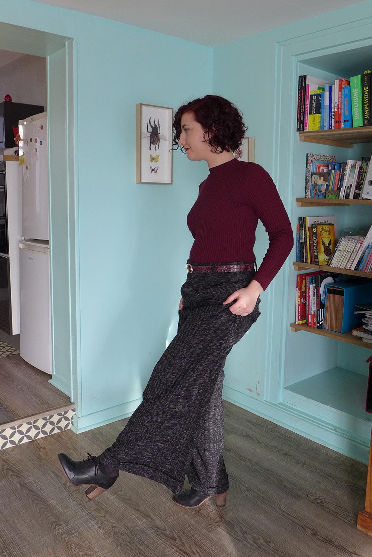 look vintage pinup rétro pantalon large