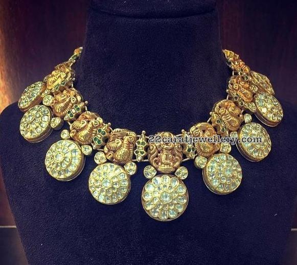 Krishna Peaccok Temple Jewellery
