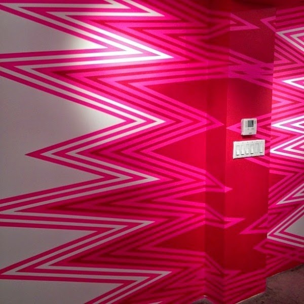 neon pink wall paint uk