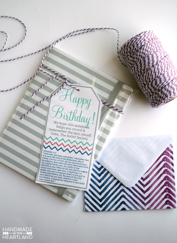 Relief Society Birthday Gift With Printable Handmade In The Heartland