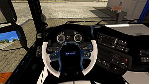 DAF Euro 6 Black & White interior