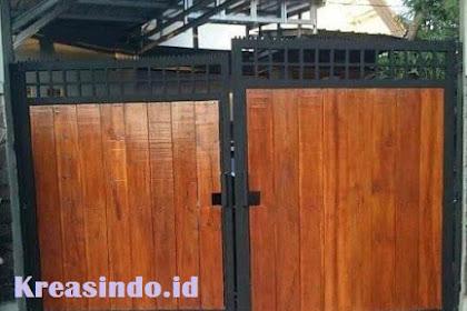 Jasa Pintu Pagar Besi Kombinasi Kayu di Bandung dan sekitarnya