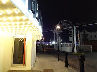 The disused monorail line at Blackpool Pleasure Beach