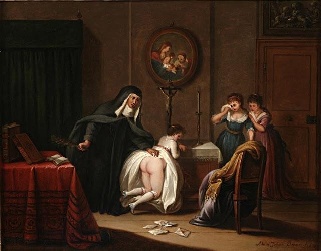 Adam Johann Braun - Educandato femminile - arte - pittura - sadomaso