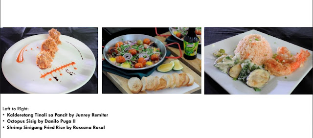 Junrey Remiter- Kalderetang Tinali sa Pancit Danilo Puga II- Octopus Sisig Rossana Rosal -Shrimp Sinigang Fried Rice