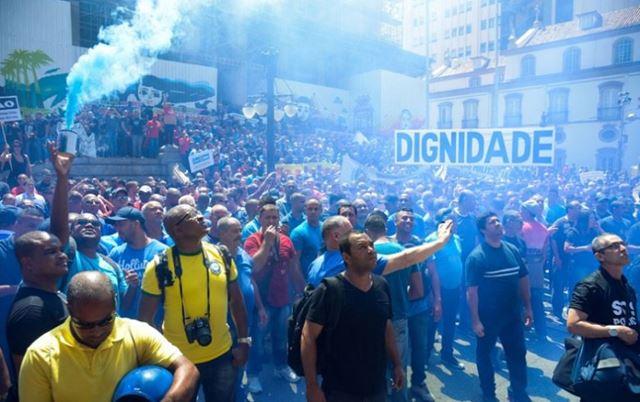 Maioria dos manifestantes era de representantes de policiais, bombeiros e agentes penitenciários (Tomaz Silva/ Agência Brasil)
