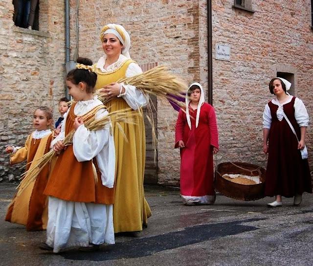 Porta del Castello, Itália, família camponesa
