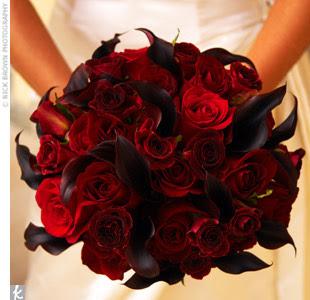 Wedding Flowers: Dark Red Roses