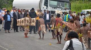 Acting PM Sir Leo Dion Opens Kumusi bridge