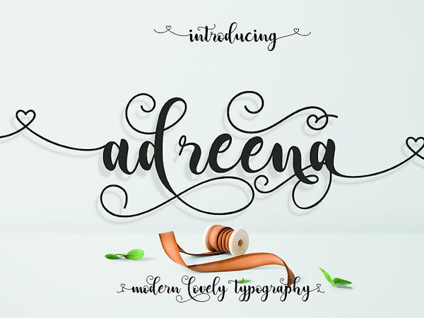 Adreena Script Calligraphy Font Free Download