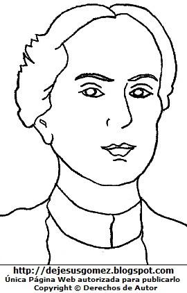 Dibujo Dora Mayer de Zulen para colorear pintar imprimir recortar y pegar.  Dibujo de Dora Mayer hecho por Jesus Gómez
