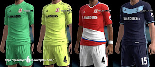 Middlesbrough kits 2016-2017 Pes 2013