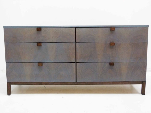 Milo Baughman For Directional 6-Drawer Mid-Century Modern Dresser Front