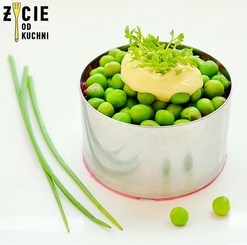 wielkanocna salatka, salatka z burakami, salatka z zielonym groszkiem, poltino, przepisy z jajem,  zielony groszek poltino, przepisy na wielkanoc, zycie od kuchni