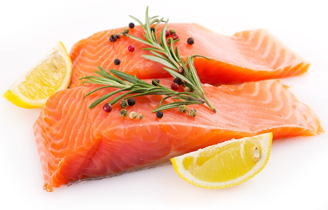 Fish, especially salmon types, contains 500 milligrams of potassium