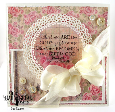 Our Daily Bread Designs Stamp Set: God Quotes 2, Custom Dies: Fancy Circles, Paper Collection: Blushing Rose