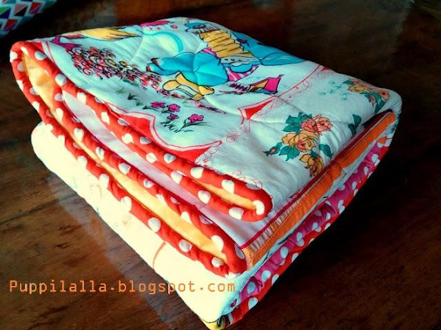 Puppilalla Design Vintage Handkerchief Patchwork Baby Quilt