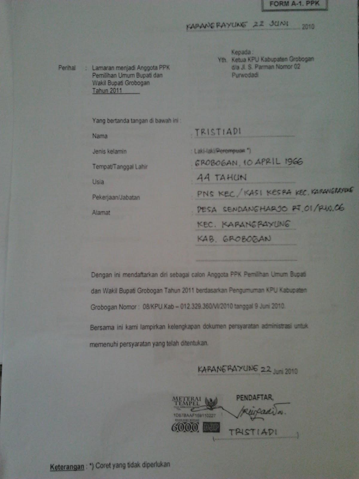 Contoh Surat Lamaran Menjadi Prajurit Tni 2015