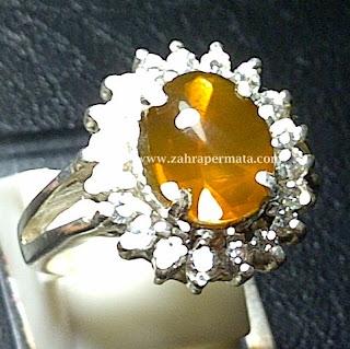 Cincin Batu Permata Fire Opal Wonogiri - ZP 397
