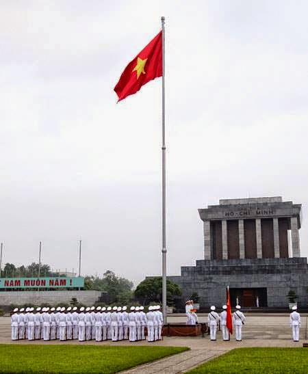 Flag Pole in Ba Dinh Vietnam