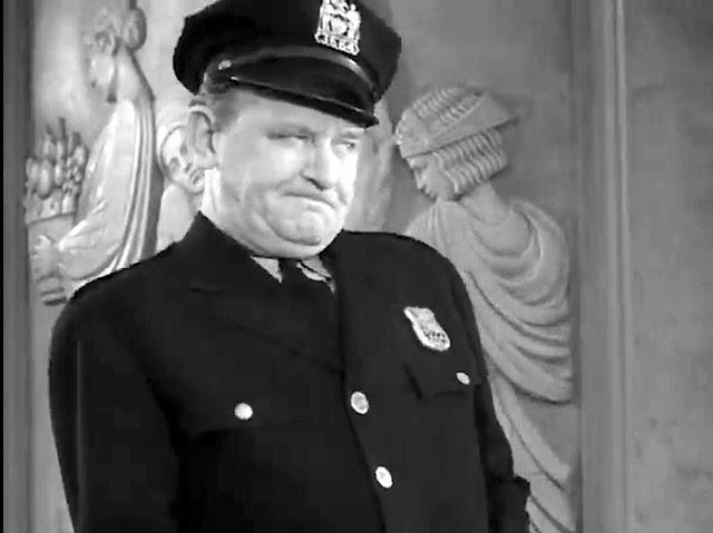 angry policeman, large photograph