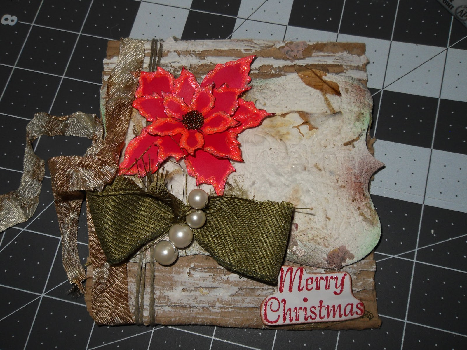 Christmas card by peggy oliver craftwell blog - Hemp rope craft ideas an authentic rustic feel ...