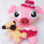 patron gratis cerdo amigurumi   free pattern amigurumi pig