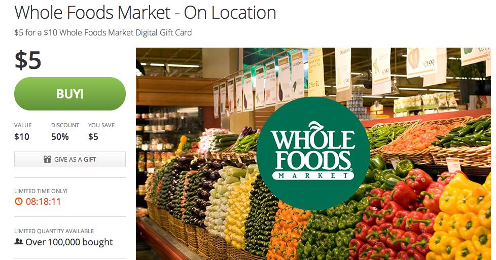 Whole Foods Card Balance