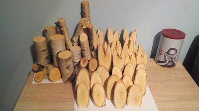 Zające z drewna
