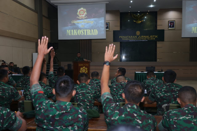 50 Prajurit Kostrad Ikuti Penataran Jurnalistik