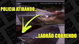 [VÍDEO] POLICIAL FEMININA COLOCA LADRÃO PRA CORRER NA BASE DO TIRO