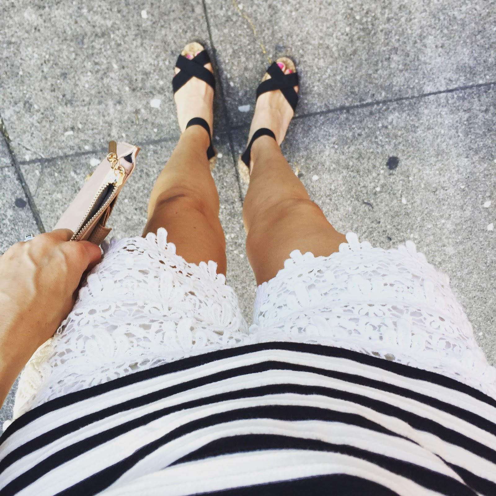 20a710846c510 I paired it with my Joe Fresh (from JCP) shorts (similar here), Manolo  Blahnik cork wedges, the Danielle Nicole Zelie clutch that Katie blogged  about just ...