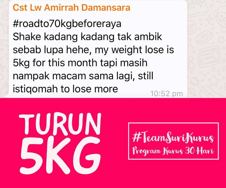 Herbalife Coach Amalina Peter (0136280514): Program Turun ...