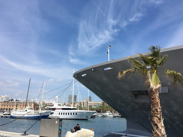 Luxury Yachts In Barcelona Port