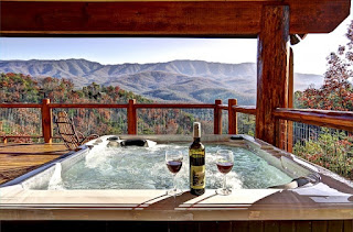 Hot tub views of the Smokies