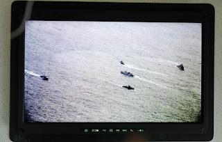 Coast Guard China Terlihat saat Patroli Udara