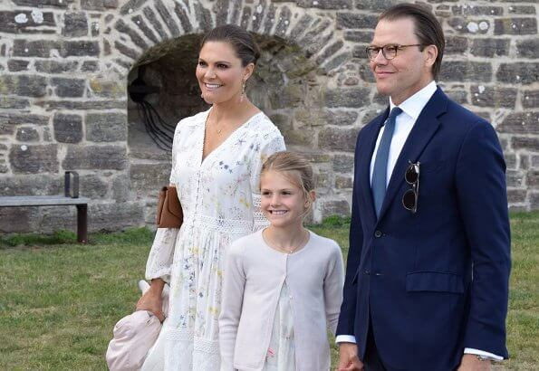 Crown Princess Victoria wore By Malina Iris dress. Crown Princess Victoria, Prince Daniel, Princess Estelle, Prince Carl Philip and Princess Sofia