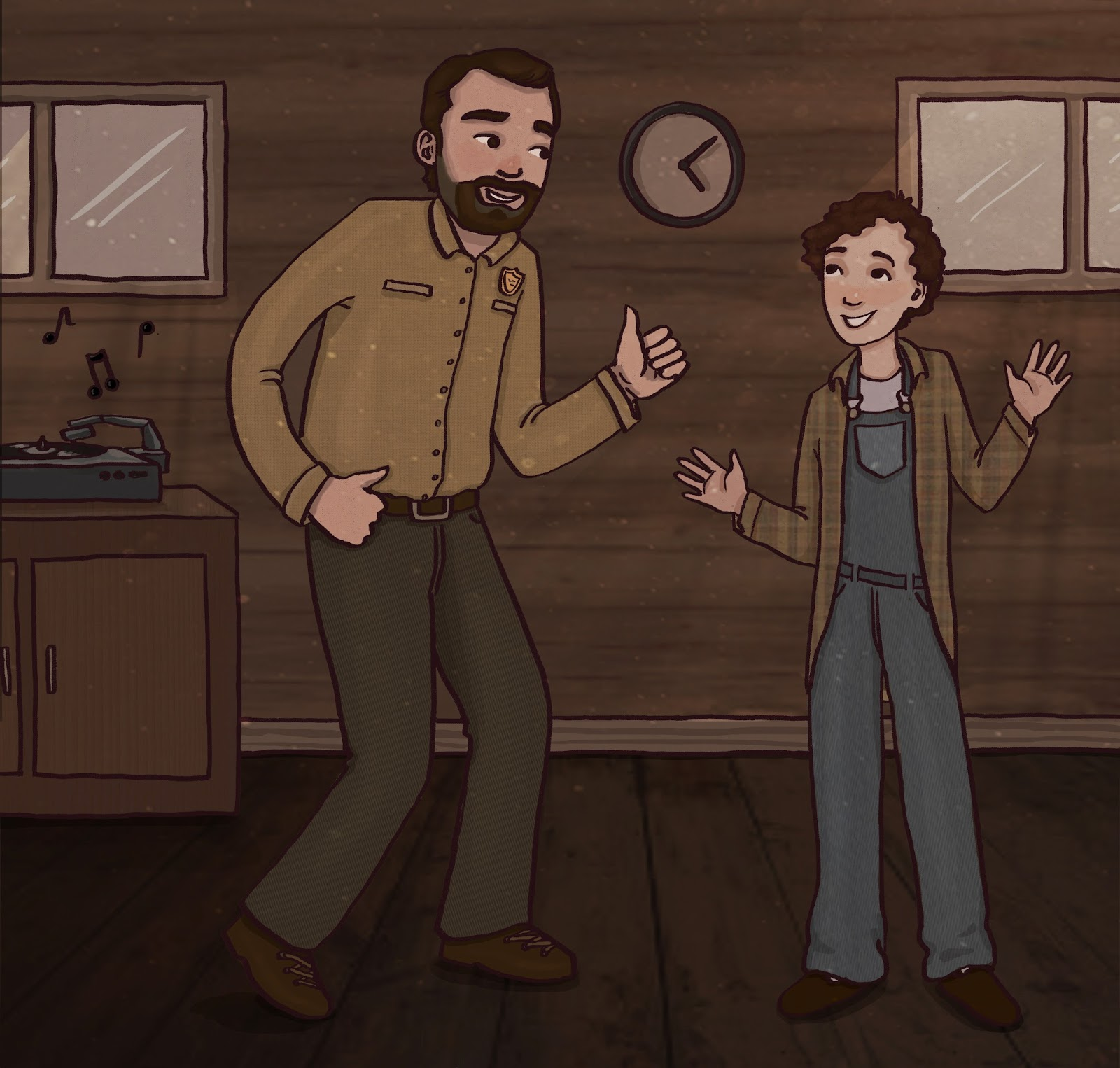 Art by Natasha: Stranger Things Fan Art: Hopper and Eleven Dancing