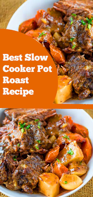 Best Slow Cooker Pot Roast | recipes slow cooker | recipes pot roast | recipes dinner | recipes crock pot | recipes weeknight dinner | recipes main dish #best #slowcooker #potroast #dinner