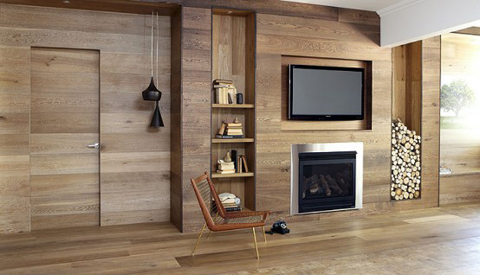 New home designs latest modern homes interior wooden - Wood paneling ideas modern ...