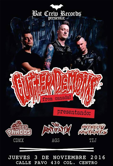  Gutter Demons 3 noviembre Guadalajara