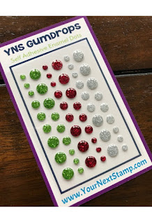 Merry and Bright Glittered Gumdrops