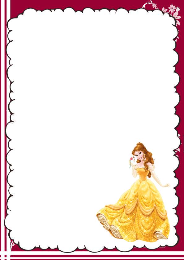Genial caratula para cuaderno de la bella y la bestia