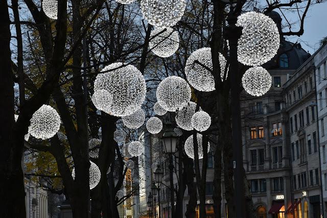 Luces de Navidad en la ciudad
