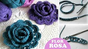 Cómo Tejer una Rosa (flor) al Crochet / Tutorial
