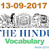 The Hindu Vocabulary with English-Hindi meanings  (13-09-2017)