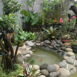 Jasa pembuatan kolam pake batu kali asli